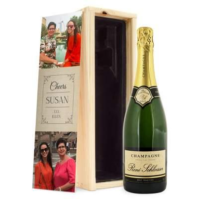 Подарочная коробка для шампанского