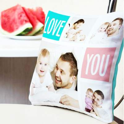 Декоративная подушка с фотографиями