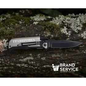 Нож складной с фонариком и огнивом Ster