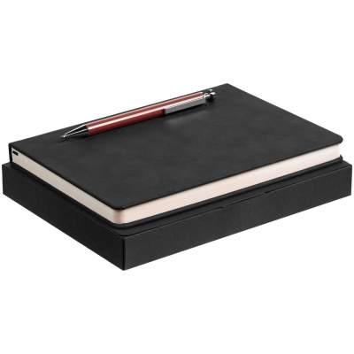 Набор Magnet с ежедневником, черно-коричневый