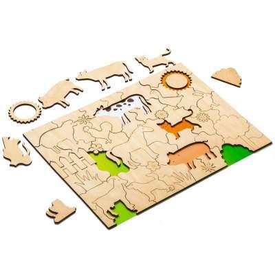 Развивающий эко-пазл Wood Games