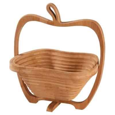 Купить Фруктовница из бамбука «Яблоко» с нанесением 890р.