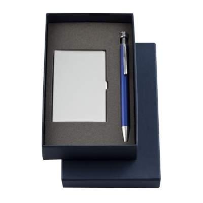 Купить Набор Join: футляр для визиток и шариковая ручка с нанесением 397р.