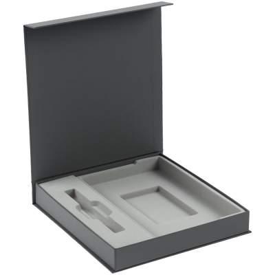 Коробка Arbor под ежедневник 13х21 см и ручку, серая