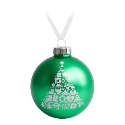 Купить Елочный шар «Новогодний коллаж», 10 см с нанесением 289р.