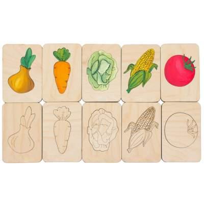 Карточки-раскраски Wood Games
