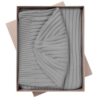 Купить Набор Stripes: шарф и шапка с нанесением 800р.