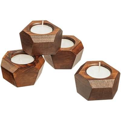 Купить Набор подсвечников Wood Job с нанесением 1190р.