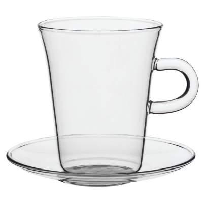 Купить Чашка с блюдцем Glass Duo с нанесением 490р.