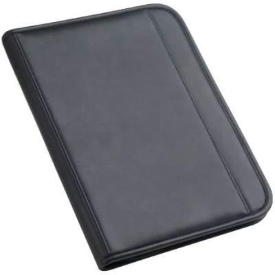 Папка Count On формата А4 с блокнотом, черная с синим