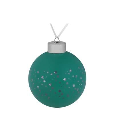 Елочный шар Stars, 8 см, зеленый