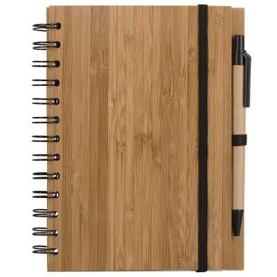 Купить Блокнот на кольцах Bambook с шариковой ручкой с нанесением 479р.