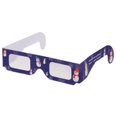 Новогодние 3D очки «Снеговики», синие