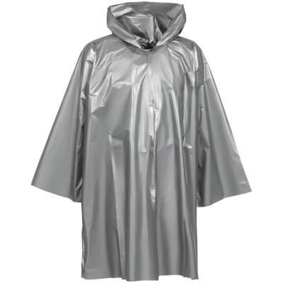 Дождевик-плащ CloudTime, серебристый