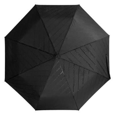 Складной зонт Magic с проявляющимся рисунком, черный