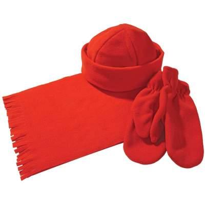 Купить Комплект Unit Fleecy: шарф, шапка, варежки с нанесением 722р.