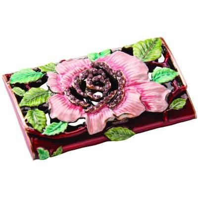 Купить Визитница с цветком с нанесением 590р.