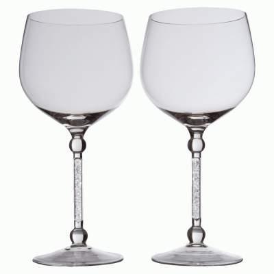 Купить Два бокала для вина «Фантазия», с кристаллами с нанесением 9294р.