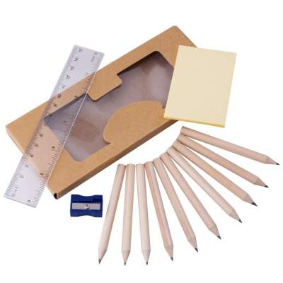 Купить Набор карандашей «Взрослый занят делом» со стикерами, точилкой и линейкой с нанесением 87р.