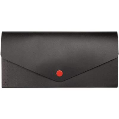 Органайзер для путешествий Envelope, черный с красным