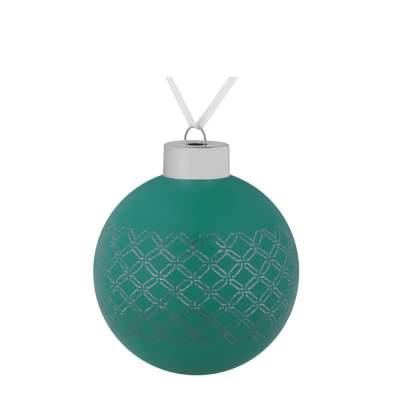 Елочный шар Queen, 8 см, зеленый