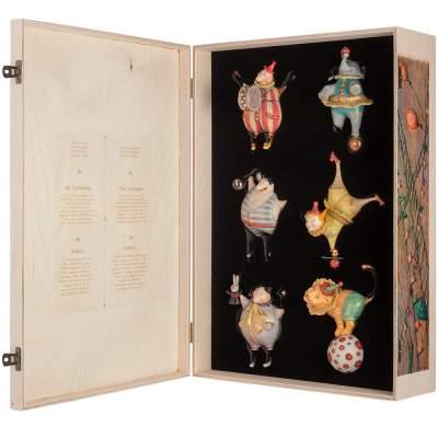 Купить Набор из 6 елочных игрушек Circus Collection с нанесением 90000р.