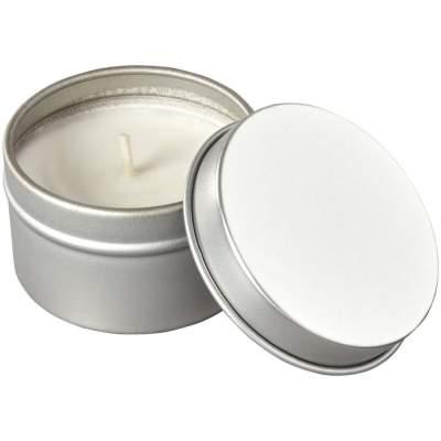 Свеча в жестяной банке Luva, серебристый