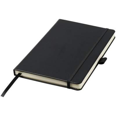 Записная книжка Nova форматаA5 с переплетом, черный