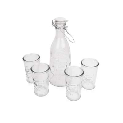 Набор Baikal из 4 стаканов для воды 250мл с графином 1000мл