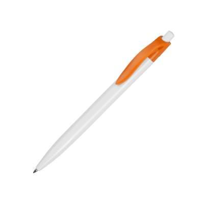 Ручка шариковая Какаду, белый/оранжевый