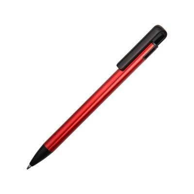 Ручка металлическая шариковая Loop, красный/черный