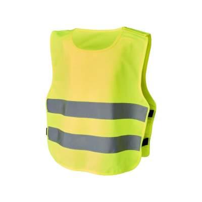 Защитный жилет на липучках Odile для детей 3-6лет,  неоново-желтый