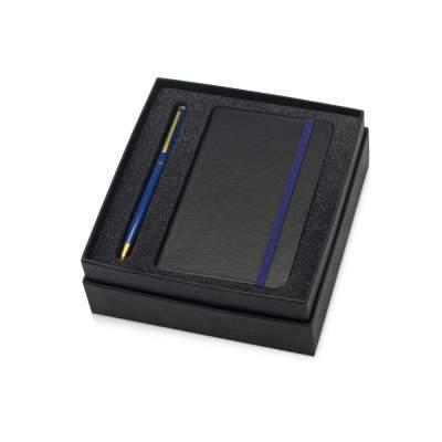 Подарочный набор Reporter с ручкой и блокнотом А6, синий