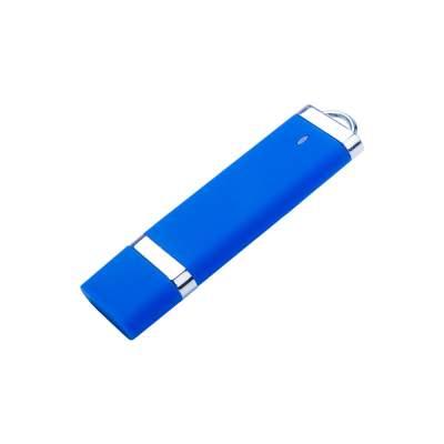 USB-флешка на 512 Mb с покрытием soft-touch Орландо, синий