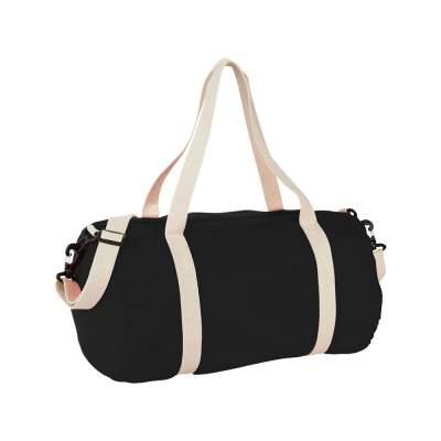 Хлопковая сумка Barrel Duffel, черный/бежевый