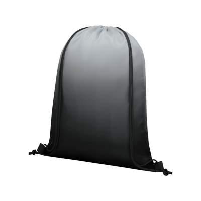 Сетчатый рюкзак Oriole со шнурком и плавным переходом цветов, черный