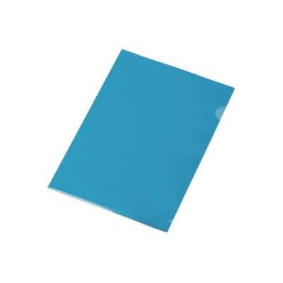 Папка-уголок прозрачный формата  А4 0,18 мм, синий