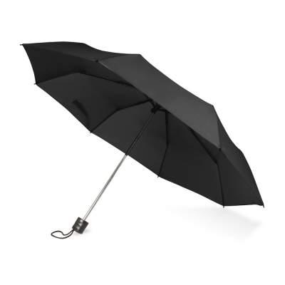 Зонт складной Columbus, механический, 3 сложения, с чехлом, черный