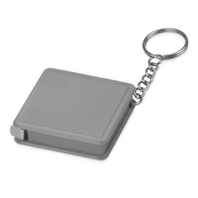 Брелок-рулетка Дюйм, 1 м., серый