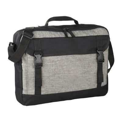 Сумка Buckle для ноутбука 15.6, серый/черный
