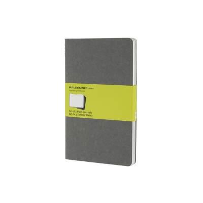 Записная книжка Moleskine Cahier (нелинованный, 3 шт.), Large (13х21см), серый