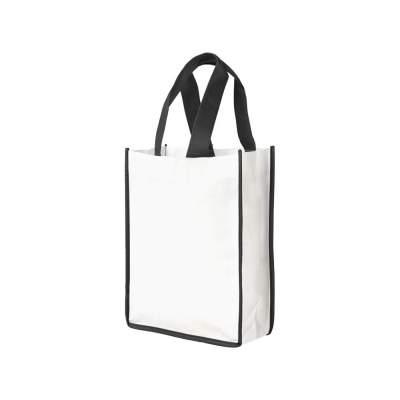 Небольшая контрастная нетканая сумка-тоут для покупок