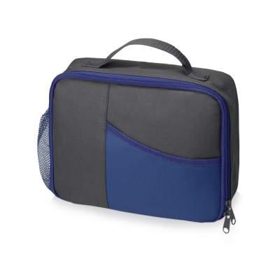 Изотермическая сумка-холодильник Breeze для ланч-бокса, серый/синий