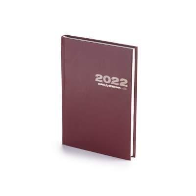 Ежедневник А5 датированный Бумвинил 2021, бордовый