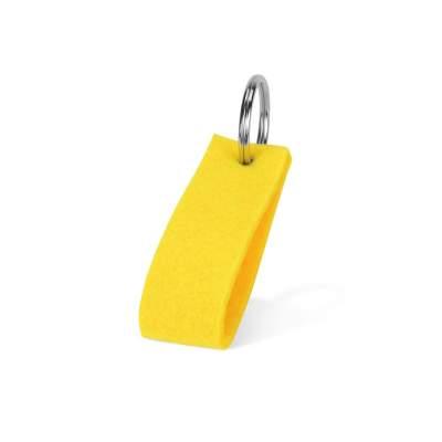 Брелок Войлочный, желтый