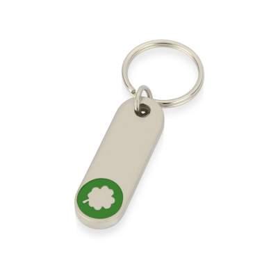 Брелок Clover, серебристый/зеленый