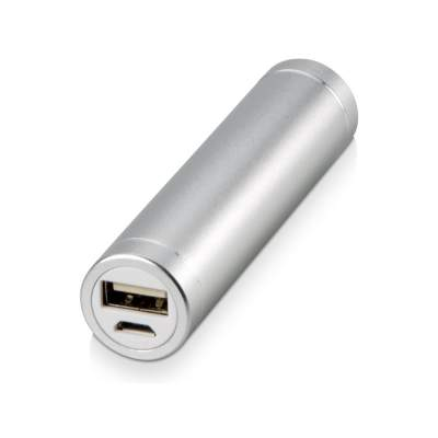 Портативное зарядное устройство Олдбери, 2200 mAh, серебристый