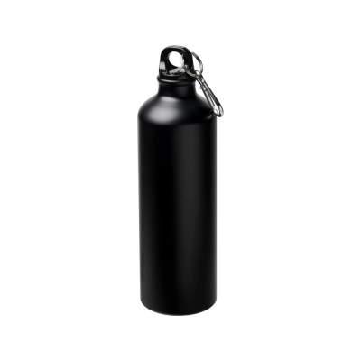 Матовая спортивная бутылка Pacific объемом 770мл с карабином, черный