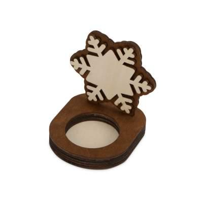 Подсвечник деревянный Снежинка