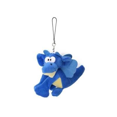 Мягкая игрушка- брелок Дракон, синий